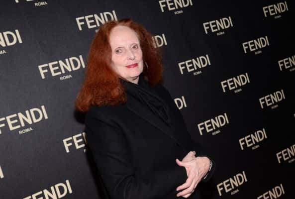 Grace Coddington attends Fendi's New York Flagship Boutique opening celebration on Friday, Feb. 13, 2015, in New York. (Photo by Evan Agostini/Invision/AP)