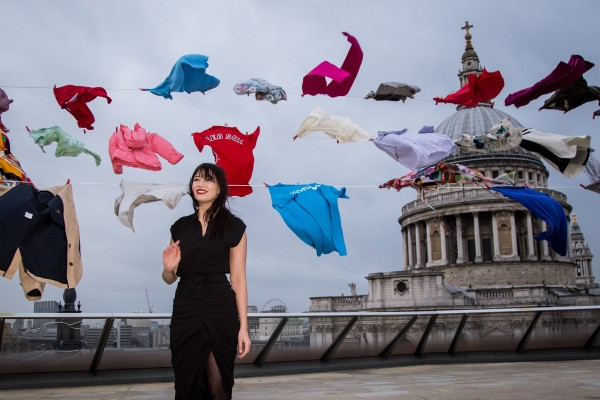 """British model Daisy Lowe attends a photo call to promote TK Maxx campaign """"Give Up Clothes For Good"""", in support of Cancer Research UK, in London, Tuesday, Feb. 2, 2016. (Photo by Vianney Le Caer/Invision/AP)"""