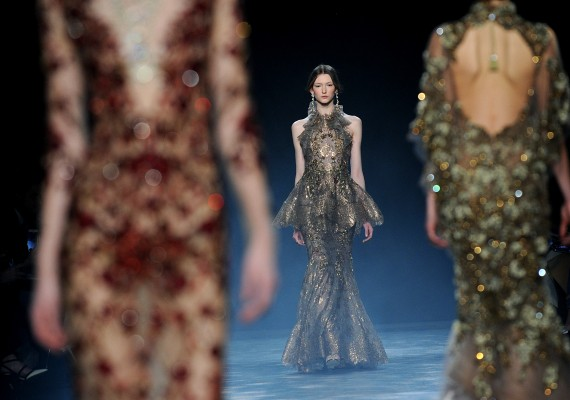 The Marchesa Fall 2016 collection is modeled during New York Fashion Week, Wednesday, Feb. 17, 2016. (AP Photo/Diane Bondareff)