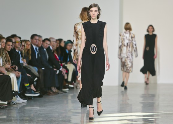 Fashion from the Calvin Klein Fall Winter 2016 collection is modeled during Fashion Week on Thursday, Feb. 18, 2016, in New York. (AP Photo/Bebeto Matthews)