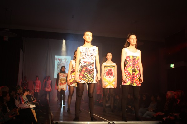 Casino Royale was the inspiration for this colourful collection by young designers at Newcastle High