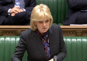 Business minister Anna Soubry makes a statement in the House of Commons, London.