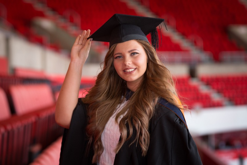 Kate Balback attends the Sunderland University Summer Graduation 2016 at the Stadium of Light Picture: DAVID WOOD