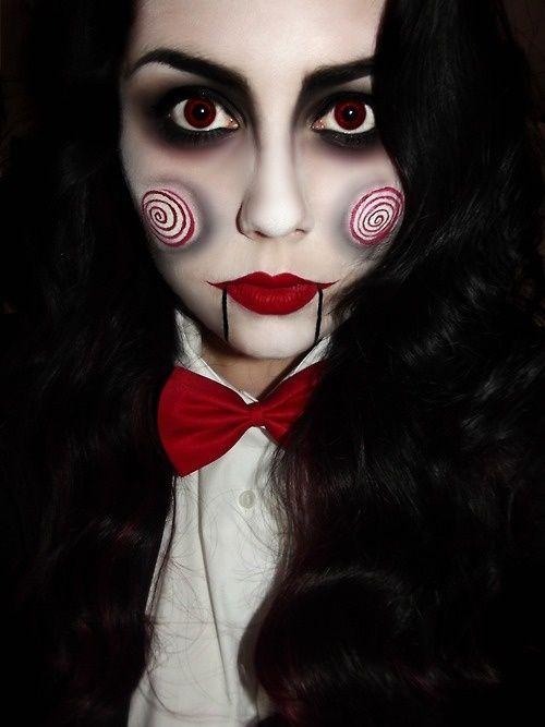 1. 'The Jigsaw Killer' inspired makeup look.