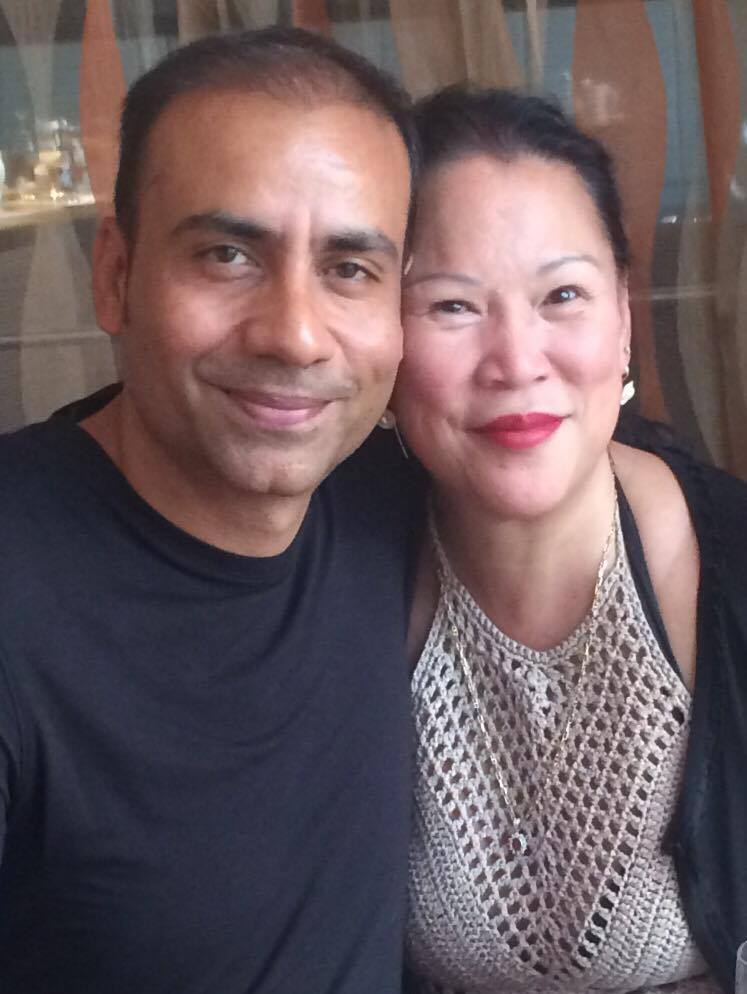 Elizabeth and her husband Yousuf on their 16th wedding anniversary in August.