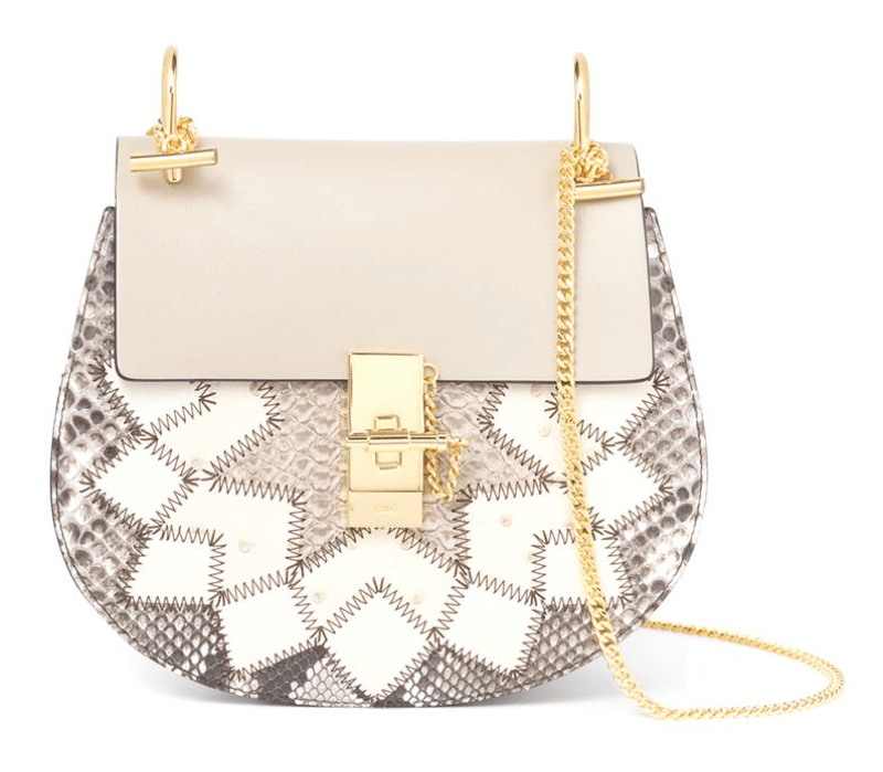 Chloé Drew Optimistic Python Patchwork Shoulder Bag £2,650.00