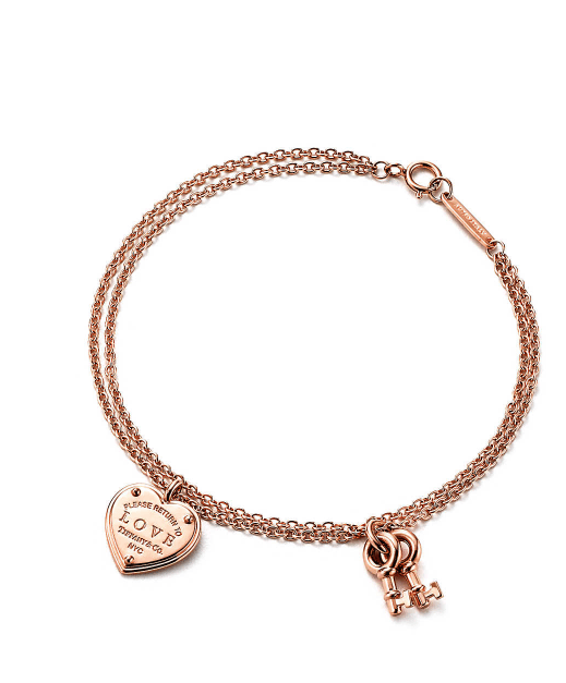 Tiffany Love heart tag key bracelet £1,125