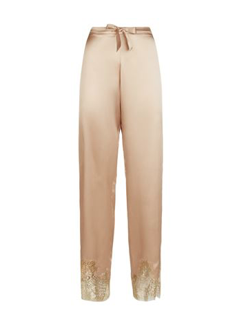 Gilda & Pearl Silk and Lace Trousers £360