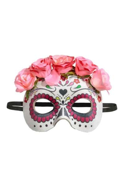 hm sugar skull halloween mask 899