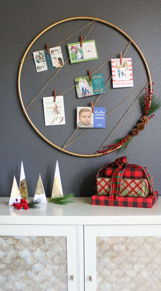 Turn A Plain Wall Into A Center Piece With This Cute Modern Display For  Your Cards From Loved Ones.
