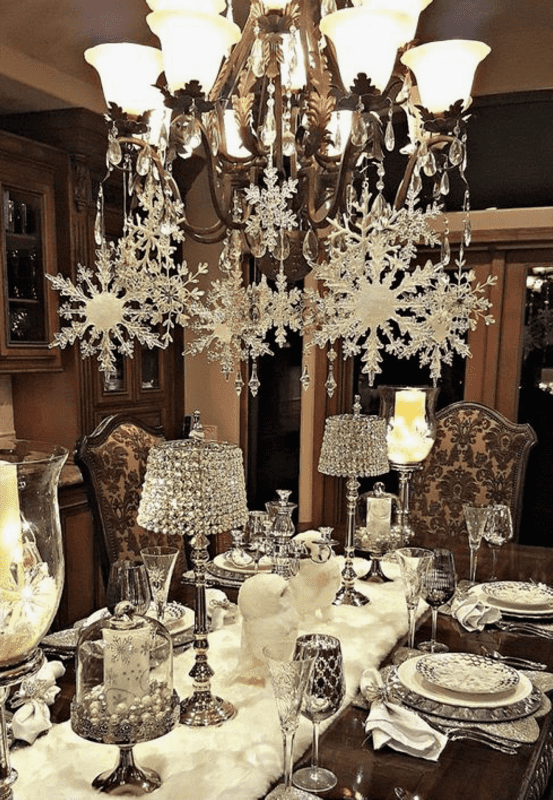 Christmas Dinner Table Inspiration Fashion North - Dinner table for 12