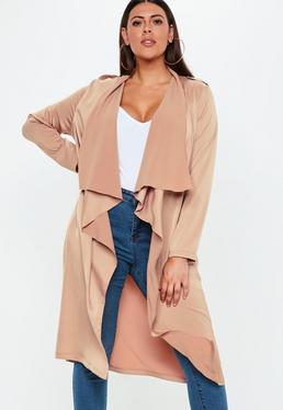 MISSGUIDED PLUS SIZE NUDE TRENCH