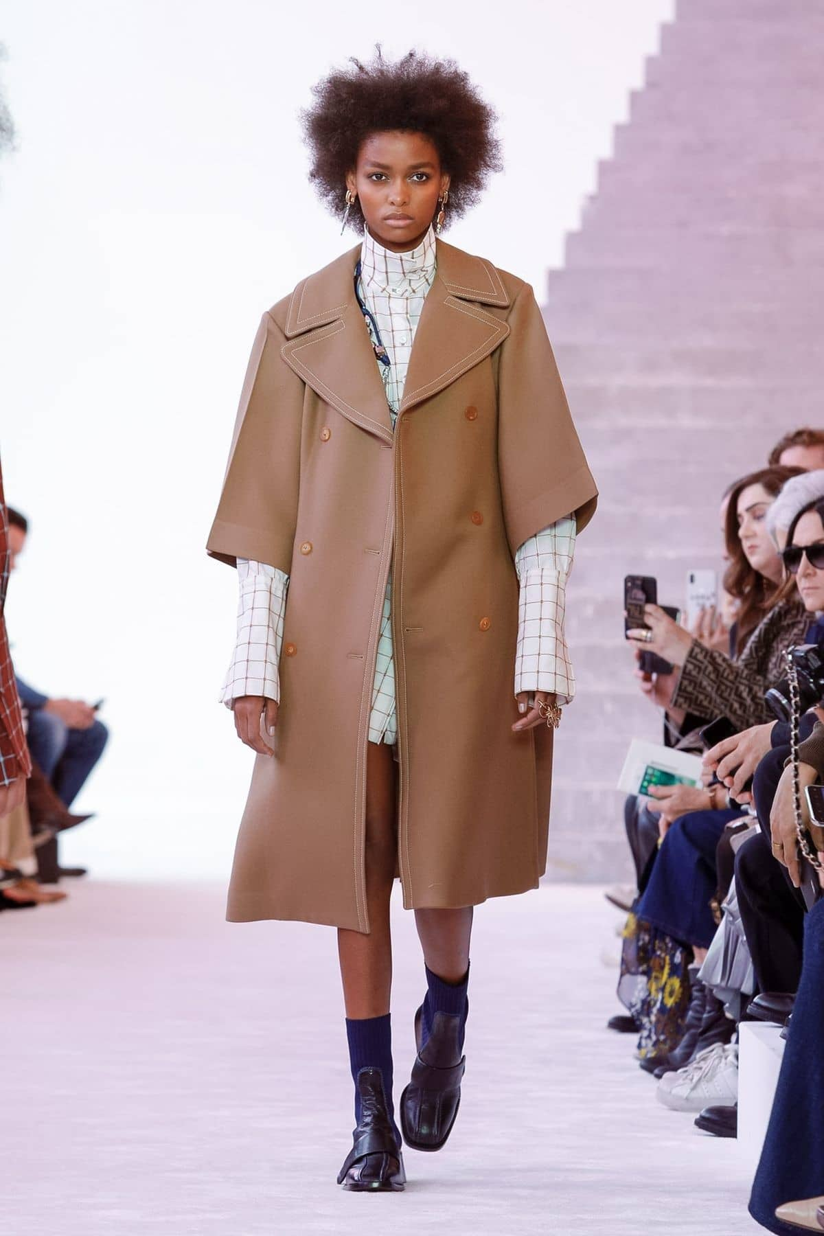 Check this out! Check dominates the Chloe FW19 ready-to-wear collection